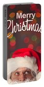 Merry Christmas Santa Card Portable Battery Charger