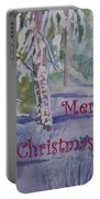 Merry Christmas - Snowy Winter Path Portable Battery Charger