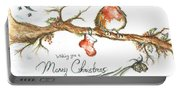 Merry Christmas Robin Portable Battery Charger