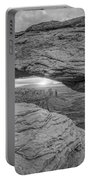 Mesa Arch Sunrise Bw Portable Battery Charger