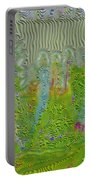 Meshed Tree Abstract Portable Battery Charger by Liane Wright