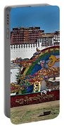 Message Of Joy From Potala Palace In Lhasa-tibet  Portable Battery Charger
