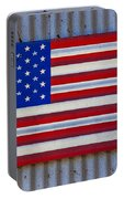 Metal American Flag Portable Battery Charger