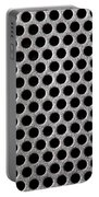 Metal Grill Dot Pattern Portable Battery Charger