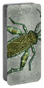 Metallic Green And Gold Prehistoric Insect  Portable Battery Charger