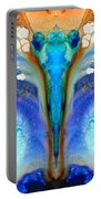 Metamorphosis - Abstract Art By Sharon Cummings Portable Battery Charger