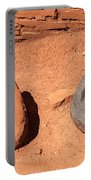 Metates At Wupatki Pueblo In Wupatki National Monument Portable Battery Charger
