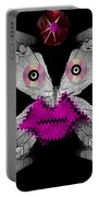 Meteoroid Creature  Coming From Comets And Androids Pop Art Portable Battery Charger by Pepita Selles