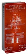Method Of Drilling Wells Patent From 1906 - Red Portable Battery Charger