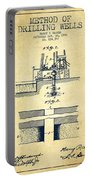 Method Of Drilling Wells Patent From 1906 - Vintage Portable Battery Charger