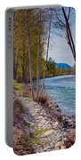 Methow River Coming From Mazama Portable Battery Charger by Omaste Witkowski