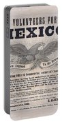 Mexican American War Flyer Portable Battery Charger