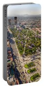 Mexico City Aerial View Portable Battery Charger by Jess Kraft