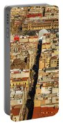 Mexico City Cathedral And Zocalo Portable Battery Charger by Jess Kraft