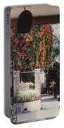 Mexico Garden Patio By Tom Ray Portable Battery Charger
