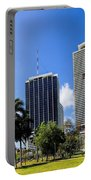 Miami Cityscape   Portable Battery Charger