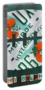 Miami Dolphins Football Recycled License Plate Art Portable Battery Charger by Design Turnpike