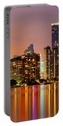 Miami Skyline At Dusk Portable Battery Charger