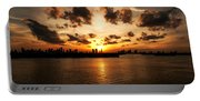 Miami Skyline Sunset Portable Battery Charger