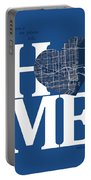 Miami Street Map Home Heart - Miami Florida Road Map In A Heart Portable Battery Charger