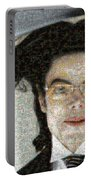 Michael Jackson - Fly Away Hair Mosaic Portable Battery Charger