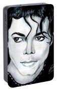 Michael Jackson Portrait Portable Battery Charger