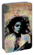 Michael Jackson - Scatter Watercolor Portable Battery Charger