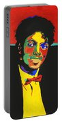 Michael Jackson Portable Battery Charger by Stormm Bradshaw