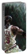 Michael Jordan Portable Battery Charger by Ylli Haruni