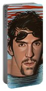 Michael Phelps Portable Battery Charger by Paul Meijering