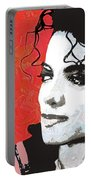 Michael Red And White Portable Battery Charger
