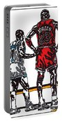 Micheal Jordan 1 Portable Battery Charger by Jeremiah Colley