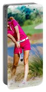 Michelle Wie Plays A Shot On The 6th Hole Portable Battery Charger