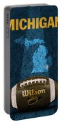 Michigan Football Poster Portable Battery Charger