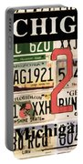 Michigan License Plate Portable Battery Charger