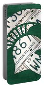 Michigan State Spartans Sports Retro Logo License Plate Fan Art Portable Battery Charger