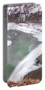 Middle Falls And Ice Feathers Portable Battery Charger