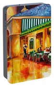 Midnight At The Cafe Du Monde Portable Battery Charger