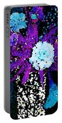 Midnight Callas And Orchids Abstract Portable Battery Charger