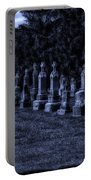 Midnight In The Garden Of Stones Portable Battery Charger by Thomas Woolworth