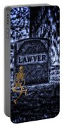 Midnight In The Graveyard With A Lawyer Portable Battery Charger