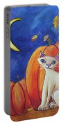 Midnight In The Pumpkin Patch Portable Battery Charger