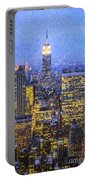 Midtown Manhattan And Empire State Building Portable Battery Charger