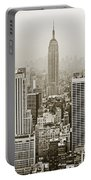 Midtown Manhattan With Empire State Building Portable Battery Charger