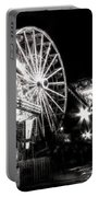 Midway Attractions In Black And White Portable Battery Charger