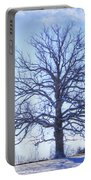 Mighty Oak In Winter Portable Battery Charger