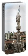 Milan Italy Cityscape And Duomo Spires Portable Battery Charger