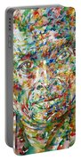 Miles Davis Watercolor Portrait.1 Portable Battery Charger