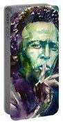 Miles Davis Watercolor Portrait.2 Portable Battery Charger