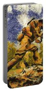 Military Ww I Doughboy 02 Photo Art Portable Battery Charger